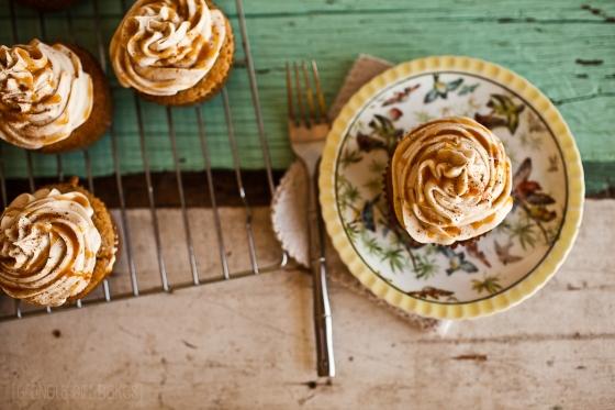 Spiced Eggnog Cupcakes ::GranolaGirlBakes 4