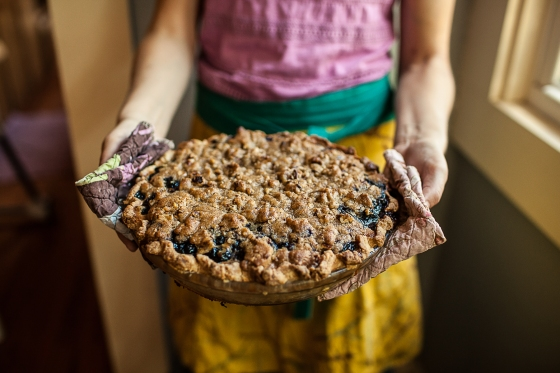 Granola Girl bakes || Blueberry Custard Pie-07
