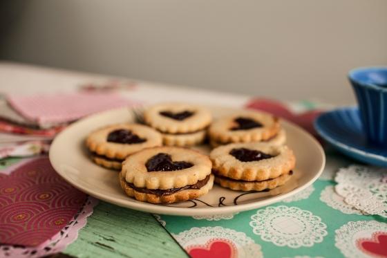 Raspberry Nutella Cookies Granola Girl bakes 22