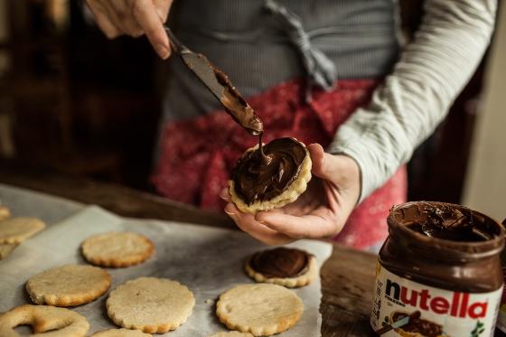 Raspberry Nutella Cookies Granola Girl bakes 7