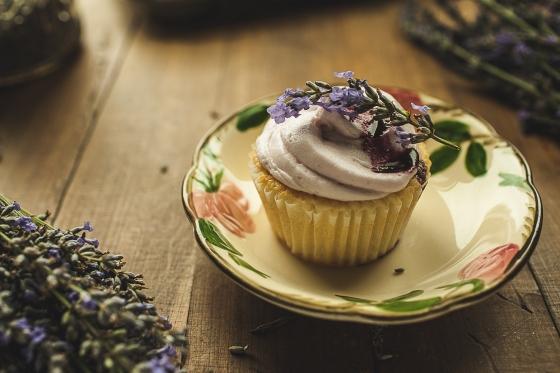 Granola Girl bakes Lavender Lemon cupcakes 3