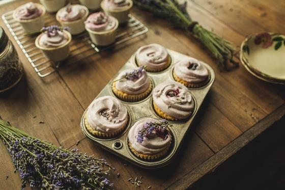 Granola Girl Bakes Lavender Lemon cupcakes 4